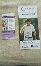 Rory McILROY signed autograph Quail Hollow Championship pairing sheet 4/28/10