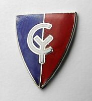 US ARMY 38TH INFANTRY DIVISION CYCLONE UNITED STATES LAPEL PIN BADGE 1 INCH