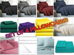 Persian Collection 4-Piece Pillow Case Set Soft 1800 Series Standard & King