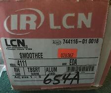 Lcn Smoothee 4111 Rh Tbsrt Aluminum Finish Door Closer Appears New Open Box