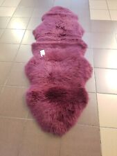 Genuine sheepskin rug Double Mulberry