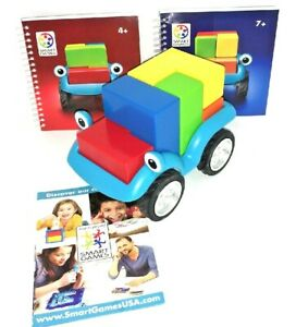 SmartGames Smart Car 5x5 Preschool Puzzle Game EUC Build Your Car Drive