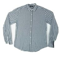 Theory Mens Size Medium Shirt Long Sleeve Button Up Plaids Checkered Multicolor