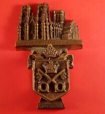 """Vintage Brass Door Knocker """" York Minster Building &  Crest RD Applied For"""