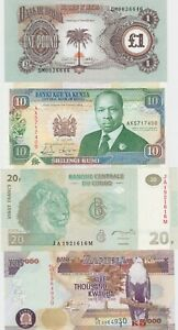 NINE DIFFERENT AFRICAN BANKNOTES IN MINT CONDITION