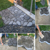 DIY Driveway Paving Pavement Mould Concrete Step Stone Path Way Maker Mold