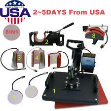 8 in1 Heat Press Machine Digital T-Shirt Mug Hat Plate Cap Transfer Sublimation