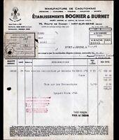 """IVRY-sur-SEINE (94) USINE CAOUTCHOUC / ARTICLES de SPORT """"BOGNIER & BURNET"""" 1941"""