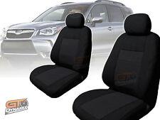 Custom Made BLACK Seat Covers for Subaru Forester SJ  F & R S4 1/2013-2016 2 ROW
