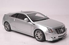 Cadillac CTS coupe car model in scale 1:18 silver