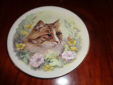 Un Named Collectors Plate Cat With Flowers