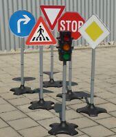 Kinder Verkehrs-AMPEL + Verkehrsschilder in MAXI Höhe 6er SET     10340-45