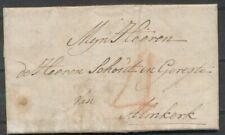 GESCHREVEN 'H' OP AZ. BRIEF 'S HAGE 11 OCT 1775 - ALMKERK, PORT 4 ST.,  ZG765