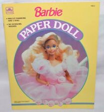 NEW-1991 GOLDEN BOOK-BARBIE PAPER DOLL BOOK-1 DOLLS+14 FASHIONS & ACCESS. +FRAME
