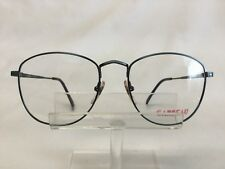 Vintage Carbeau 7028 Eyeglasses Antique Blue Metal Large Round 56-18