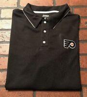Philadelphia Flyers NHL Hockey Men's Polo Shirt Size Large