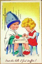 1930s Novelty Postcard: Manicure/Hairdresser, 3D Add-On