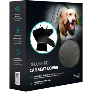 Deluxe Waterproof Pet Dog Cat Car Truck SUV Back-Seat Cover w Storage Bag