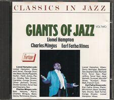 CD ALBUM LIVE-LIONEL HAMPTON & CHARLES MINGUS & EARL FATHA HINES--GIANTS OF JAZZ