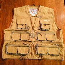 FIELD & STREAM Tackle Fishing Vest Fly Sz L SPR-015 Zip off waist NWOT #186
