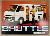 1982 Holden Shuttle original Australian sales brochure
