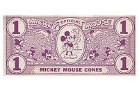 Disney Vintage Mickey Mouse Cones Dollar circa 1933