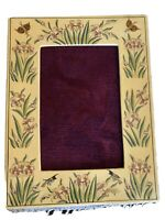 Hand Painted Wood/Paper Mache Lacquered Picture Frame Made in Kashmir