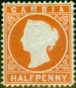 Gambia 1880 1/2d Orange 10A Wmk CC Sideways Fine Unused
