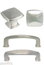 "Satin nickel  Square Kitchen Cabinet Drawer Knobs and Pulls 3"" Brushed nickel"