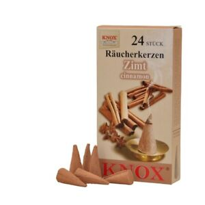 KNOX German Incense for Smoker Rauchermann Raucherkerzen Cinnamon Scent 2 BOXES
