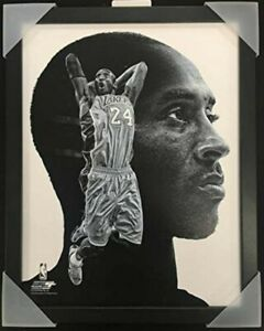 "Kobe Bryant Los Angeles Lakers NBA ProFile Photo (Size: 12"" x 15"") Framed"