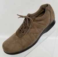 Munro American Oxford Plain Toe Brown Leather Lace Up Womens Shoes Size 10.5N