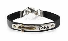 NEW James Lawrence Faith Leather Silver Tone Bracelet, 8 Inch 98343