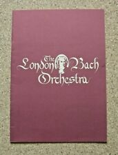 THE LONDON BACH ORCHESTRA - QUEEN ELIZABETH HALL PROGRAMME 1981.