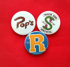 3 Riverdale badges set badge pack - Netflix inspired fan art