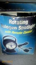 NEW BOAT MARINE BLACK ROTATING SPOTLIGHT WITH REMOTE CONTROL