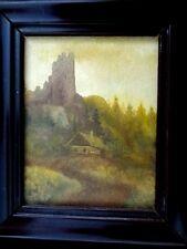 Miniaturgemälde einer  Burgruine von Ladislav Pelc  87
