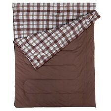 NEW Coleman Hampton Luxury High Quality Cotton & Flannel Double Sleeping Bag
