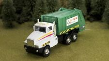 Die Cast City Garbage Truck Waste Mgmt O Scale 1:48 White cab with Green body