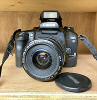 Canon EOS 30 35mm SLR Film Camera And 35-80mm Zoom Lens! Working Order! Lomo