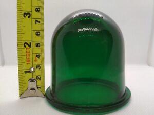 Lens for sea lamp, lamp USSR, Vintage, original. Color green