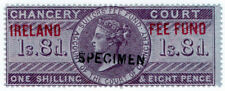 (I.B) QV Revenue : Ireland Chancery Fee Fund 1/8d (specimen)
