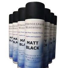 More details for hydrographic aerosol matt black paint 500ml top quality product hydro dipping