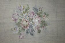 Set Lot 3 Preworked Paragon Roses Tulips Chair Needlepoint Completed Finished