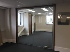 10mm USED GLASS PARTITION -2655mmx2330mm 3 Panels & 1 Door-Nationwide delivery