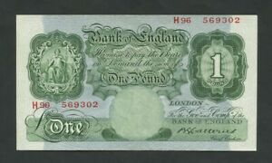 BANK OF ENGLAND  Catterns  £1  1930 H FIRST  B225 VF-EF Banknotes
