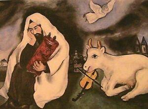 "1933-34 Marc Chagall ""Solitude"" Post Card 6.3 x 4.5 Small Modern Art Print"