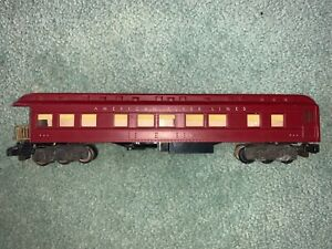 American Flyer #954 Grand Canyon Heavyweight observation car maroon lighted