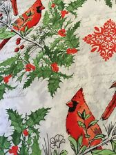 "Red Cardinals Holiday cotton quilters fabric per yd 44"" Windham"