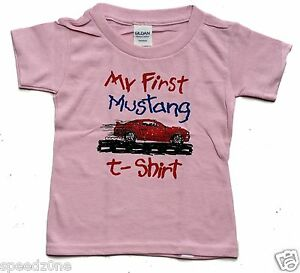 FORD MUSTANG MY FIRST MUSTANG PINK TODDLER T  SHIRT SOLD EXCLUSIVELY HERE